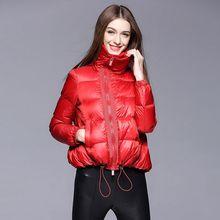Women Winter Coat Black Waist High Punk Style Jackets Zipper Duck Hoodied Casual Female Coats Street Wear Women Outwear ST6206