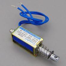 Φ DC 6V 12V 24V нажимной и вытяжной тип Φ открытая рамка электромагнитная сила Keepping 5N перемещение 10 мм линейный соленоид