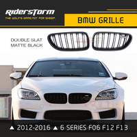 M6 Design for Bmw 6 Series Carbon ABS F06 F12 F13 Front Kidney Grill Grille Replacement 640i 650i 640d 2012 2016 M Sport