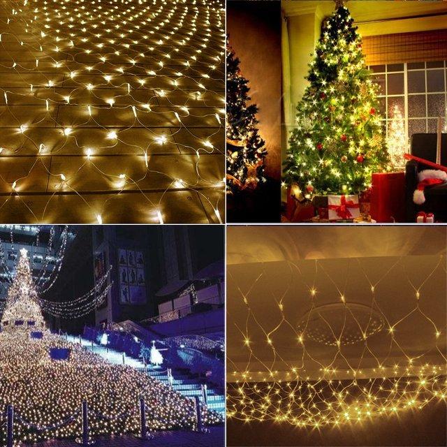 Kerstverlichting Netto, 204 LED 3*2 m Netto Lichtslingers Boom ...