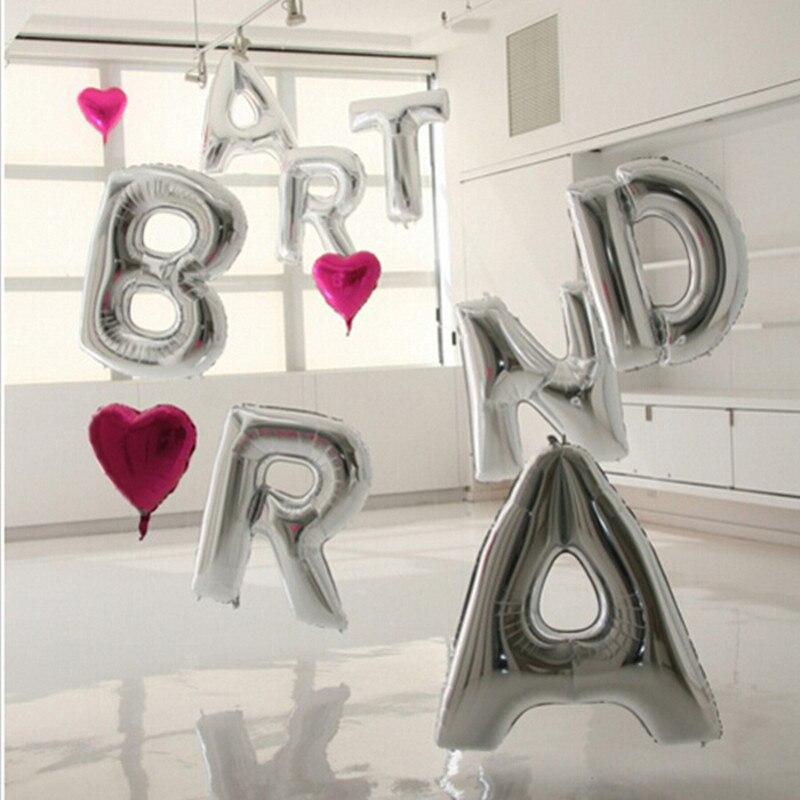 free shipping 1pc ballons silver huge 40 inch letter balloon a z alphabet balloon jumbo gold balloons