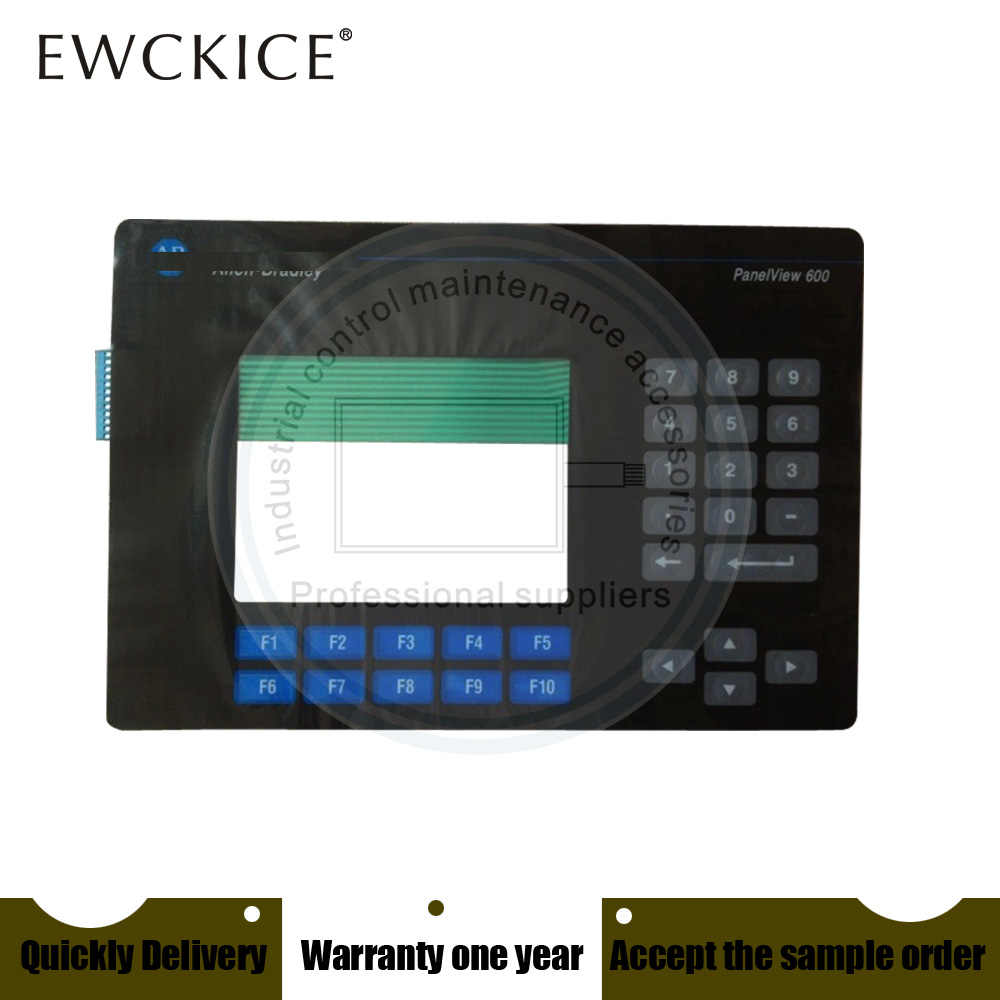 NEW PanelView 600 2711-K6C9 2711-K6C15 2711-B6C15 2711-B6C15L1 HMI PLC  Membrane Switch keypad keyboard
