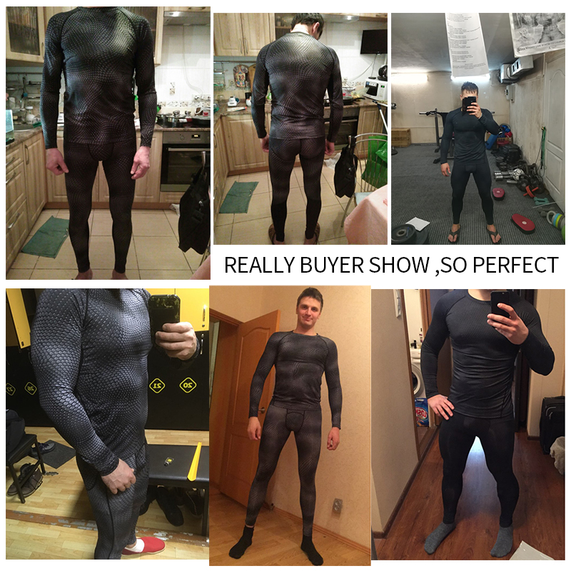 Image 4 - 2017 Fitness Tight Sport Suit Men Long Sleeve Shirt +Pant Mens Running Set Compression Gym Clothing Quick Dry Mens Sportswear-in Running Sets from Sports & Entertainment on AliExpress