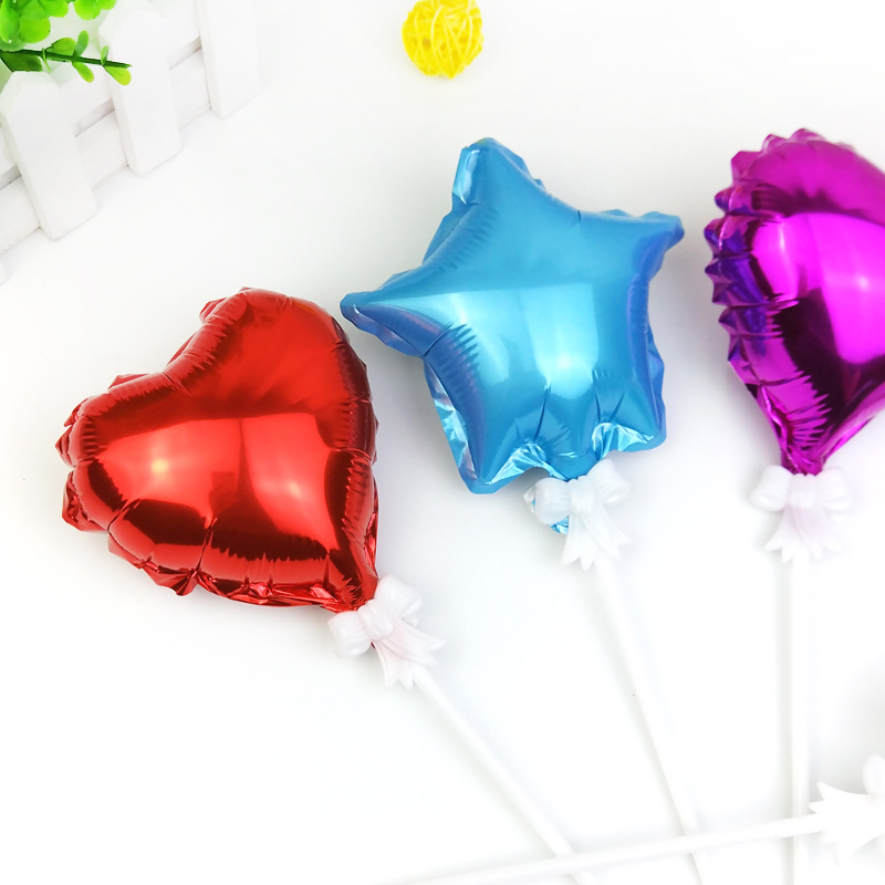 Decoration 5inch 10 Pieces Star Heart Foil Balloons Wedding Event Christmas Halloween Festival Birthday Party PD 115 in Ballons Accessories from Home Garden