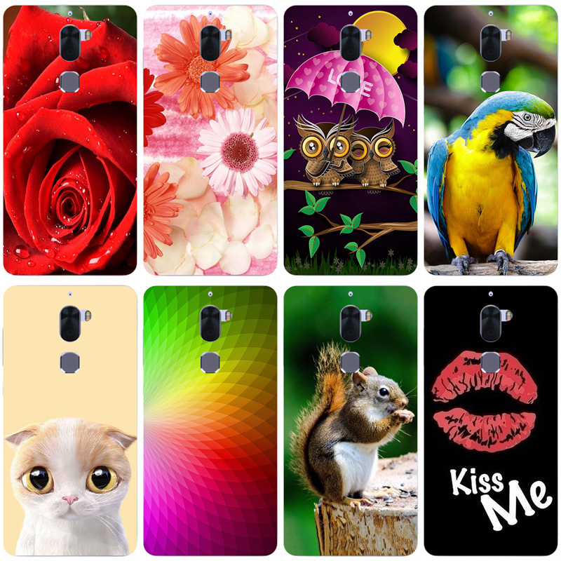 Soft TPU Phone Cases For Letv Cool 1 Letv LeEco cool 1 Dual Leeco Coolpad Cool1 5.5 inch Covers Cat Owl Animal Back Silicone