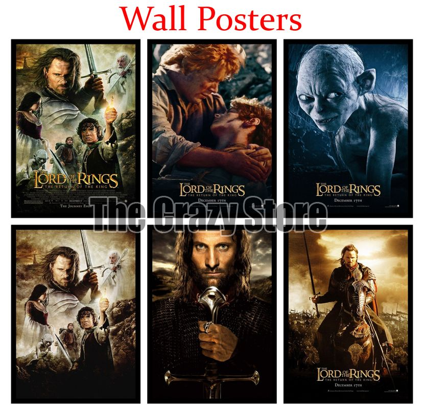 The Lord of the Rings The Return of the King White Kraft Paper Art Painting Print Poster Picture Wall Fashion Home Decor 42X30cm in Wall Stickers from Home Garden