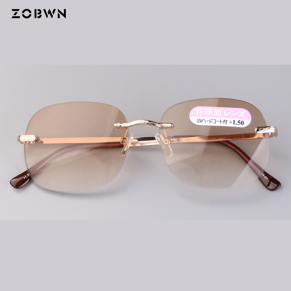 Reading glasses man women eyeglasses gold color +1.50,+2.00,+2.50,+3.00,+3.50 presbyopia lens for old people ladies near vision image