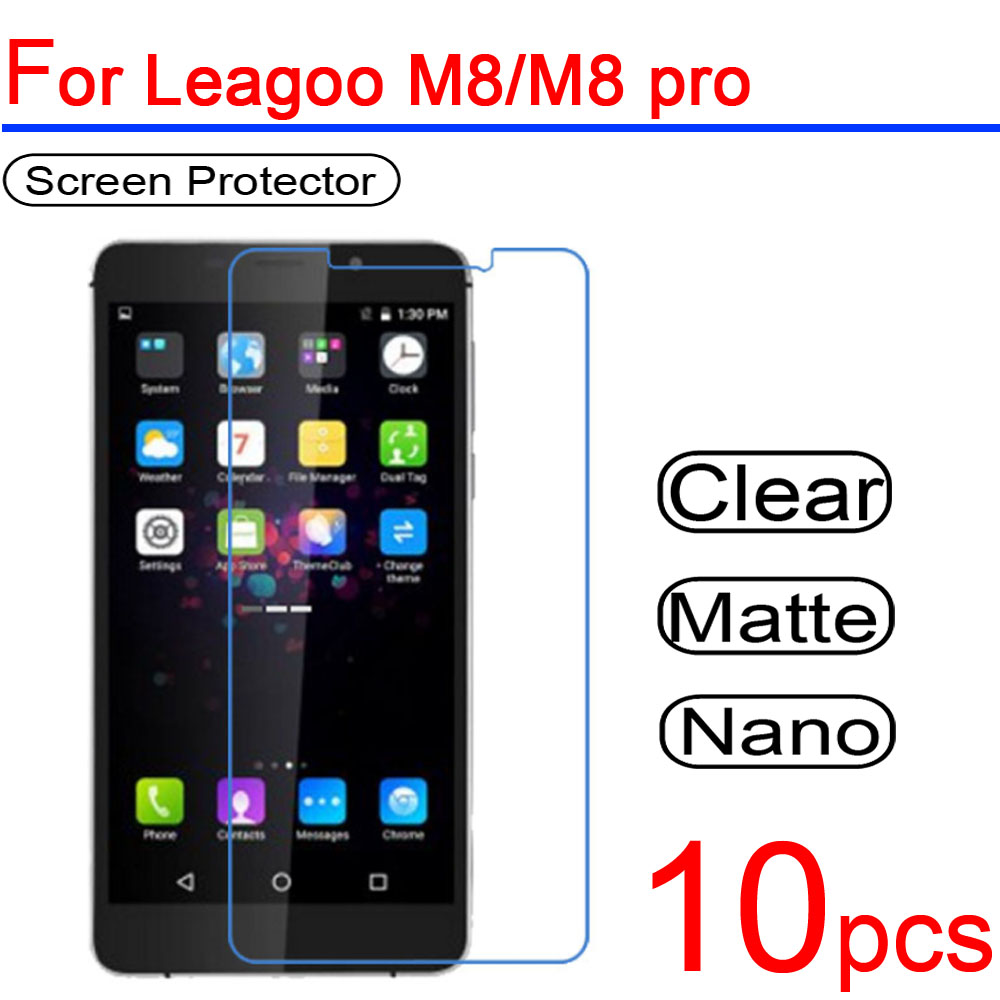 10pcs Ultra Clear PET Soft for Leagoo M8 LCD Screen Protector Guard Cover for Leagoo M5 T5/T5C Z5/Z5L M8 pro Protective Film