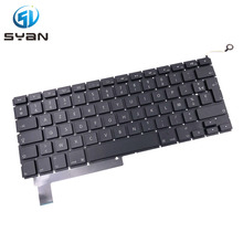 French A1286 keyboard with backlight for Macbook pro 15.4 laptop MC371 MC372 MC373 MC721 MC723 MD103 MD104 keyboard backlit