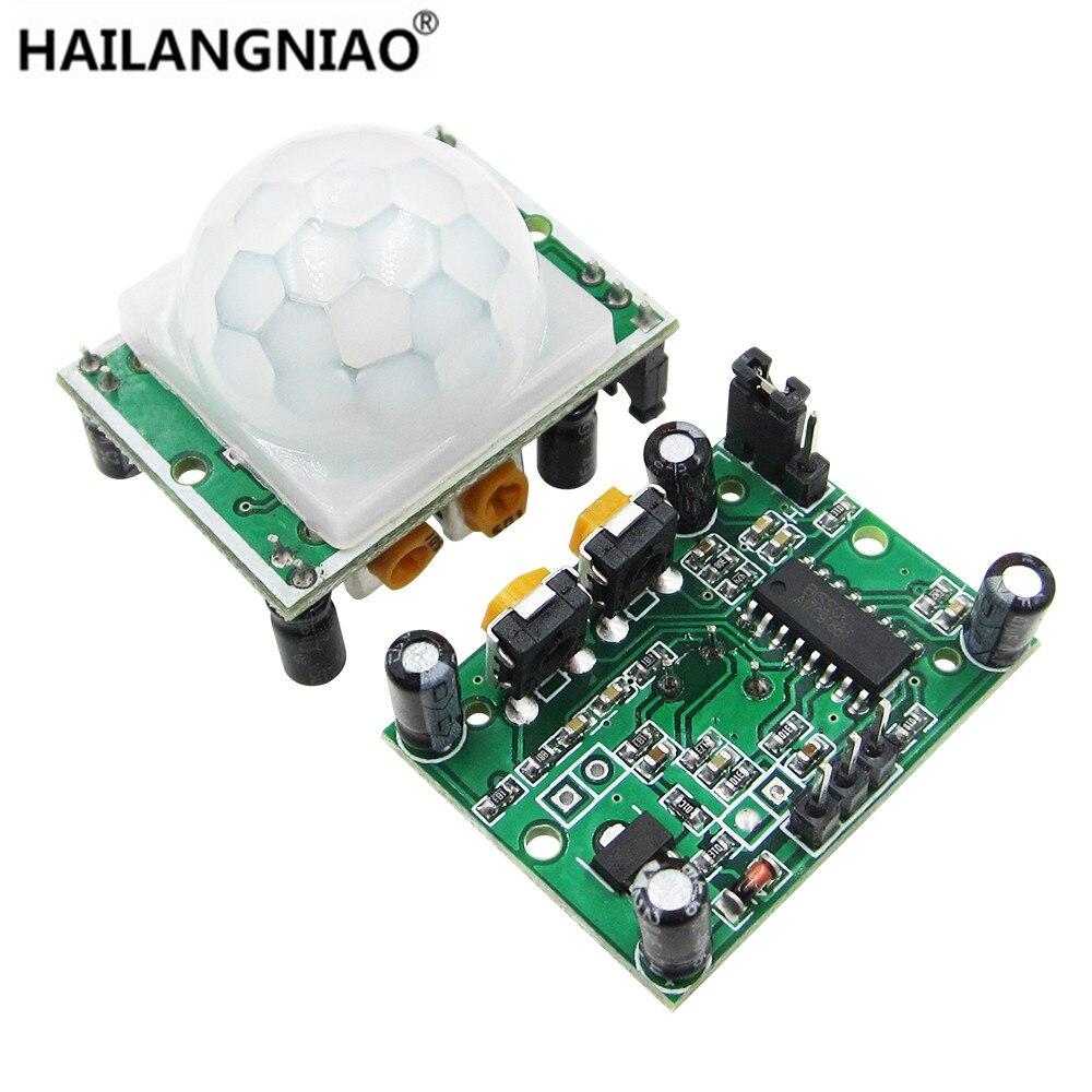 5Pcs HC-SR501 HCSR501 SR501 Automatic Infrared Sensor Module Pyroelectric Body PIR Infared Sensor Switch Module 100% Origin