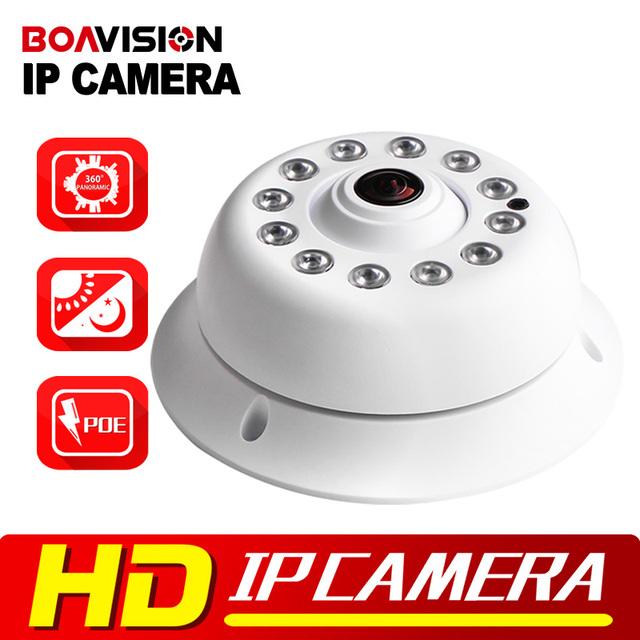 HD Onvif 2MP 1080 P Câmera IP PoE IR 10 m Night Vision Panorama de 360 Graus Fisheye Cúpula Rede 720 P 1.0MP IP Cam XMeye P2P