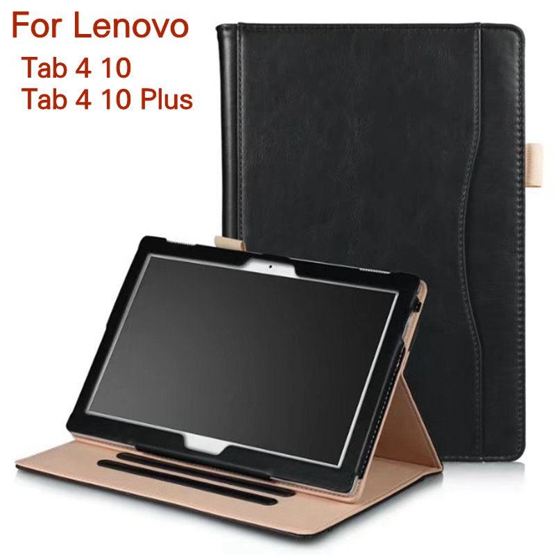 Magnetic Case for Lenovo Tab 4 10 TB-X304F/N 10.1 Tablet Smart PU Leather Funda Cover for Tab 4 10 Plus Tb-X704F/N+Screen Film steelie magnetic tablet socket