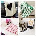 2016 Дюймов Бобо Выбирает Новорожденного Младенца Вязания Одеяло Хлопок Покрывало Диван Шерсть Одеяла Детские Коляски Коврик
