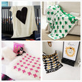 2016 Ins Bobo Choses Newborn Infant Baby Knitted Blanket Cotton Coverlet Sofa Knitting Wool Blankets Baby Strollers Rug