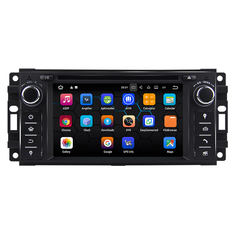 Android 7.12 quad core Car DVD GPS For Jeep Wrangler Compass Grand Cherokee Commander Liberty Patriot <font><b>Chrysler</b></font> <font><b>300C</b></font> image