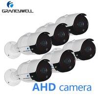 6 PCS 1080P HD CCTV AHD Camera Night Vision Security Home Camera Outdoor Waterproof Bullet Video DVR Surveillance Camera