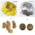 500pcs/lot Pirate Game Coin Toddler Toys Plastic Toy Coin Game Coin Chips ,Fashion Child toy 4Style