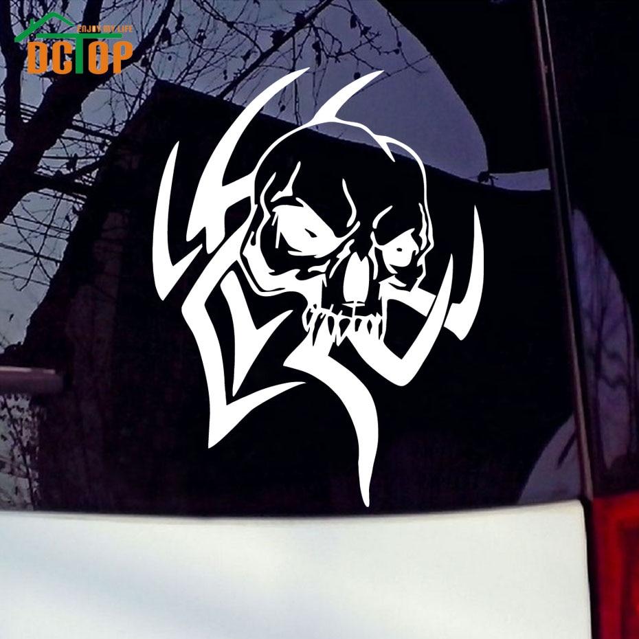 Tribal skull design truck funny bumper sticker car window van bike art decal china