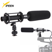 3 Pin XLR Output on DSLR Cameras Pro BOYA BY PVM1000 Condenser Shotgun Video Camera Microphone For DV Camcorder & Video Cameras