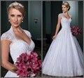Vestido de noiva vestido de baile vestidos de noiva aberto para trás sexy vestido de casamento Capela train vestido de noiva 2015 robe de mariage