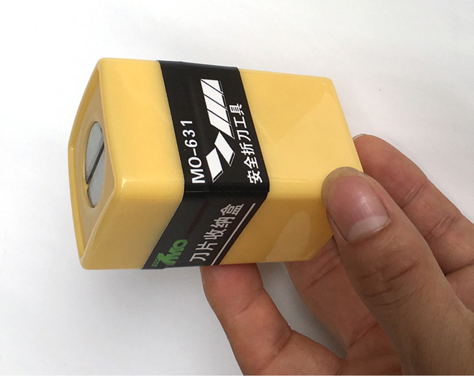 Image 3 - Safety Cutter Blade Disposal Case Box Blade Disposal Re Usable Case Safety Storage Pocket MO 631-in Car Stickers from Automobiles & Motorcycles