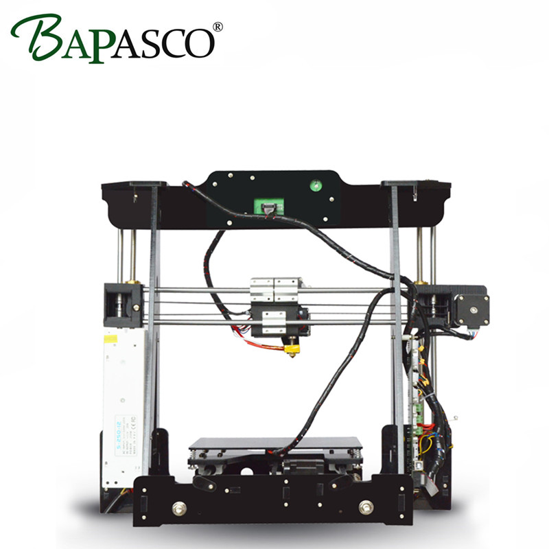 BAPASCO 3D Printer DIY Kit Large Printing Size 220*220*210mm 3D Metal Printer High-precision PLA/ABS/PV/HIPS/Wood desktop reprap original anycubic 3d pinter kit kossel pulley heat power big size 3d printing metal printer fast shipping from moscow