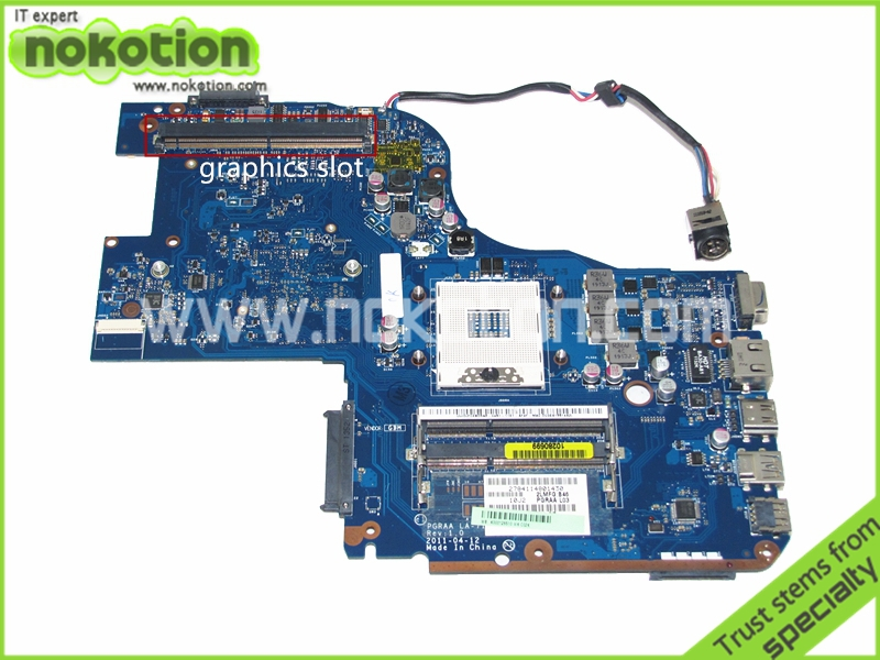 K000126510 PGRAA LA-7191P Laptop motherboard For Toshiba Qosmio X770 X775 HM65 GMA HD3000 DDR3 with graphics slot Mainboard
