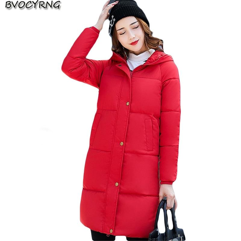 New Korean Leisure Women Winter Coat Fashion Thickening Hooded Long Style Coat Big Yards Feather Cotton Warm Wadded Jacket Q611 стоимость