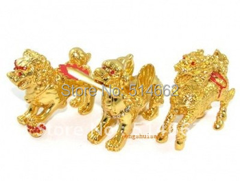 Fengshui Three Divine Guardians with Implements for 3 Killings  W9004