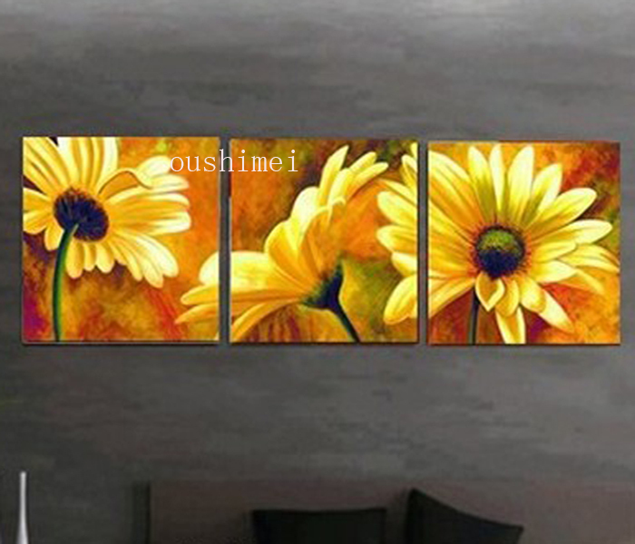 3pcs/lot Hand Painted SunflwoerThe Beautiful Real Art Handpainted ...