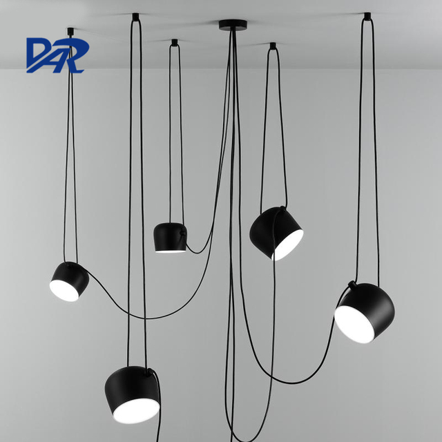 Creative Design White Black Drum Chandeliers Diy 1 2 3 4