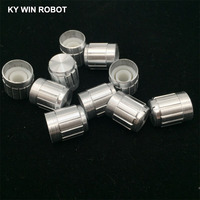 potentiometer knob 10pcs 15*17mm aluminum alloy potentiometer 15*17 knob rotation switch volume control knob white (5)