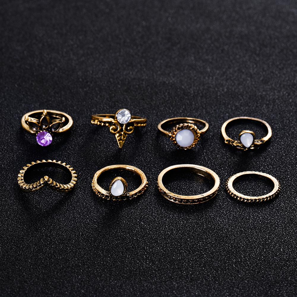 HTB1npRkRXXXXXXgXVXXq6xXFXXXw 8-Pieces Bohemian Vintage Retro Lucky Stackable Midi Ring Set For Women - 2 Colors