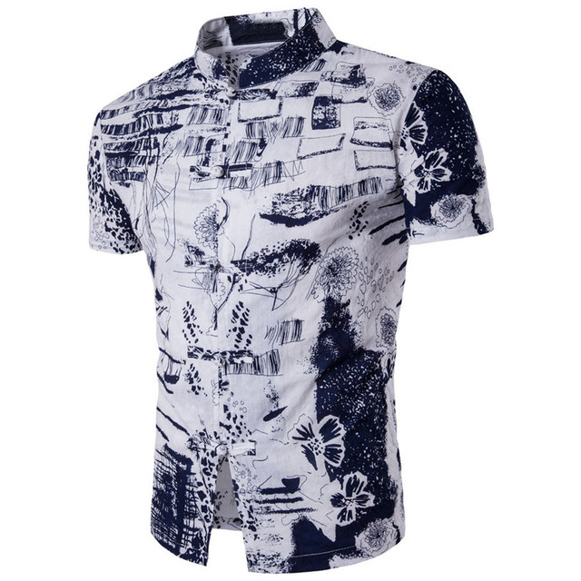 e752a9a623e 1PCS Men T-shirt 2017 Summer Fashion Men Male Bohemia Retro Fashion Printing  Men s Short