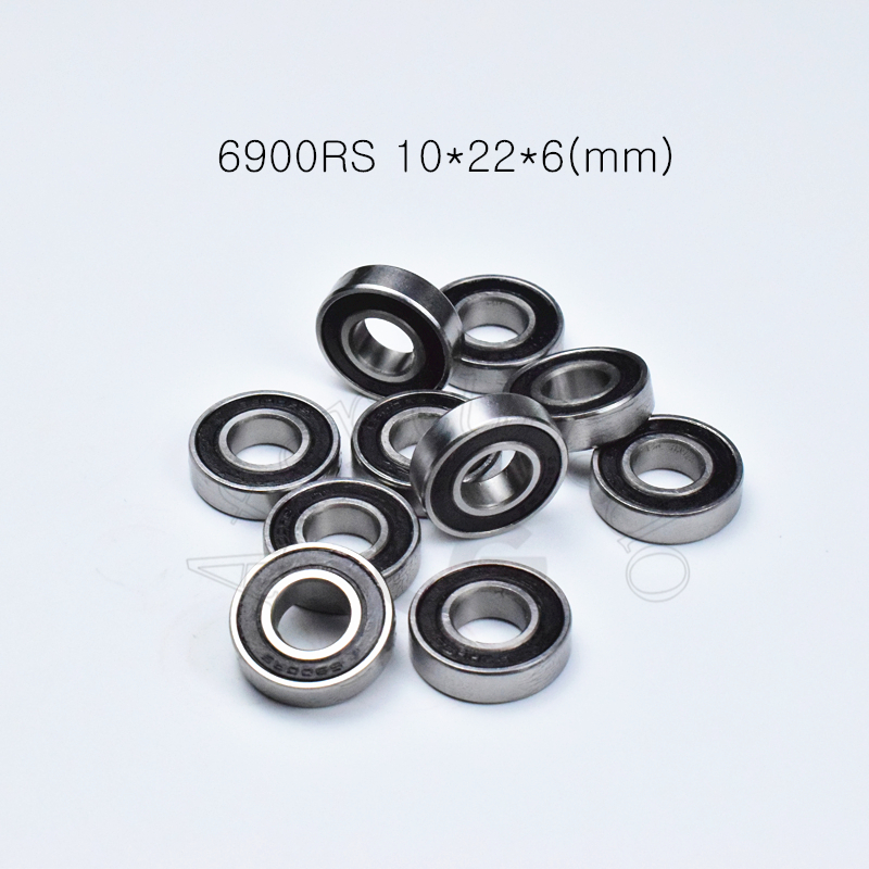 6900RS 10*22*6(mm) 10pieces Free Shipping Bearings  ABEC-5  6900 Chrome Steel Bearing Rubber Sealed Bearing Thin Wall Bearing