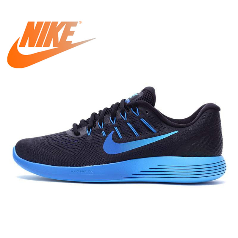 Original NIKE Official Breathable LUNARGLIDE 8 LUNAR Men's Running Shoes Sneakers Outdoor Walking Jogging Athletic Durable