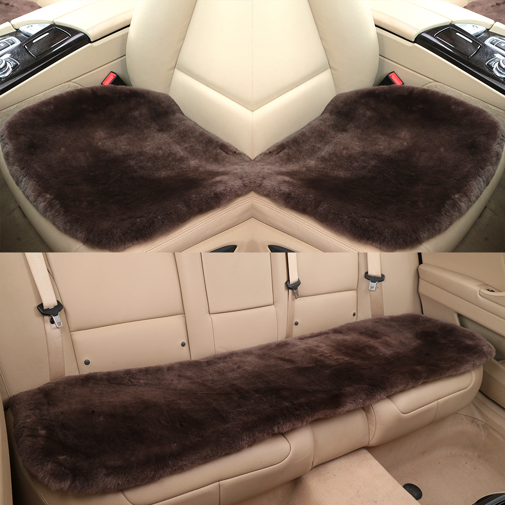 OGLAND Car-Seat-Cover Sheepskin Comfort Fluffy Australia Automobile Soft Made Wool Natural-Fur