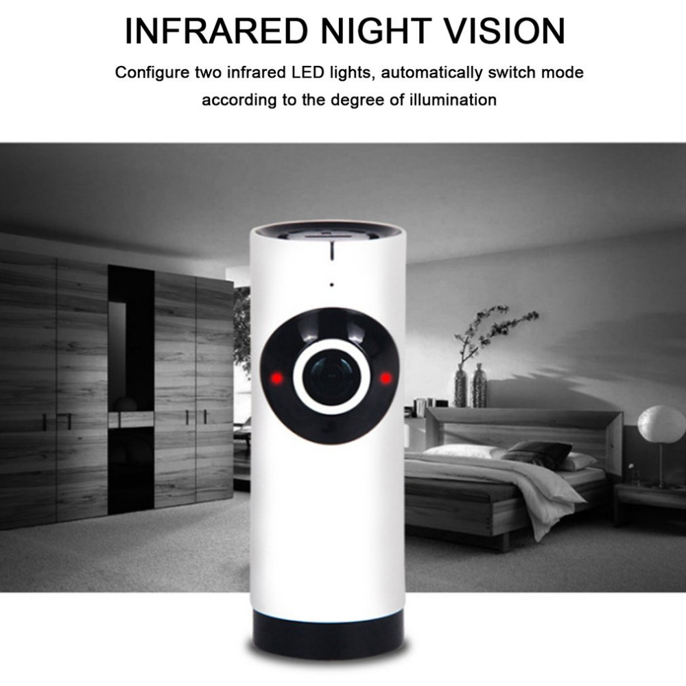 720P Wifi Camera Panoramic 360 Degree Fish-eye Smart Home Security Surveillance Baby Monitor Webcam Wireless Night Vision Camera720P Wifi Camera Panoramic 360 Degree Fish-eye Smart Home Security Surveillance Baby Monitor Webcam Wireless Night Vision Camera