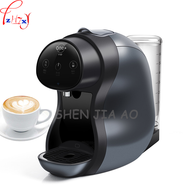 1PC 220V 1600W Home Smart Capsule Coffee Machine Automatic Capsule Coffee Machine American Coffee / Soymilk / Milk Tea 220v commercial smart cafe machine hong kong style black tea machine stainless steel american coffee machine tea water machine