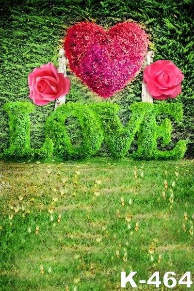 15x2 M Amor Hermosa Decoración De Flores Forma De Corazón Rosa
