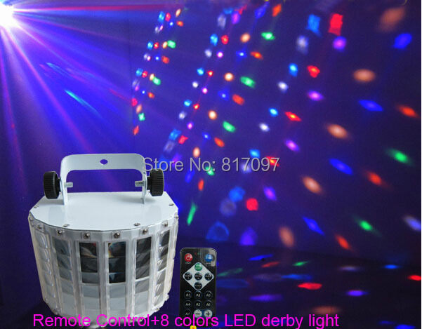 New Arrival 8-color Remote butterfly led stage lighting derby effects light wedding bar ktv light flash Lighting Party Disco DJ