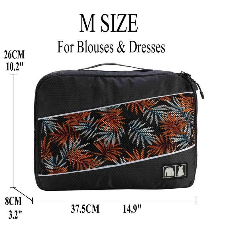 Soperwillton упаковочные кубики, нейлоновая дорожная сумка-Органайзер, Воздухопроницаемая сетчатая дорожная сумка для мужчин и женщин, органайзер для путешествий - Цвет: Black M
