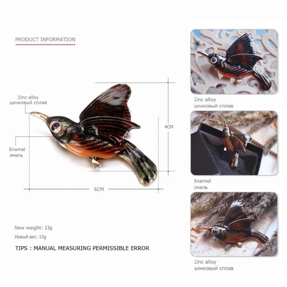 EManco Commercio All'ingrosso Vintage Spilla regali per le donne Spille Vestito Spilli Dei Monili Chic Charming Carino Uccelli Dello Smalto Dei Monili di Modo
