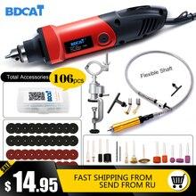 BDCAT электрическая дрель Dremel, шлифовальная машинка, мини дрель, вращающийся инструмент, шлифовальная полировальная машинка, аксессуары Dremel