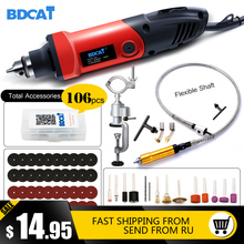 BDCAT Elektrische Boor Dremel Molen Graveren Molen Mini Boor Rotary Tool Slijpen Polijsten Machine Dremel Accessoires