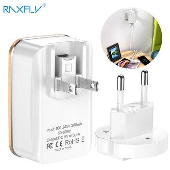 4424162864d RAXFLY 3 Puerto USB cargador de 2 en 1 de la UE nos enchufe de Reino ...