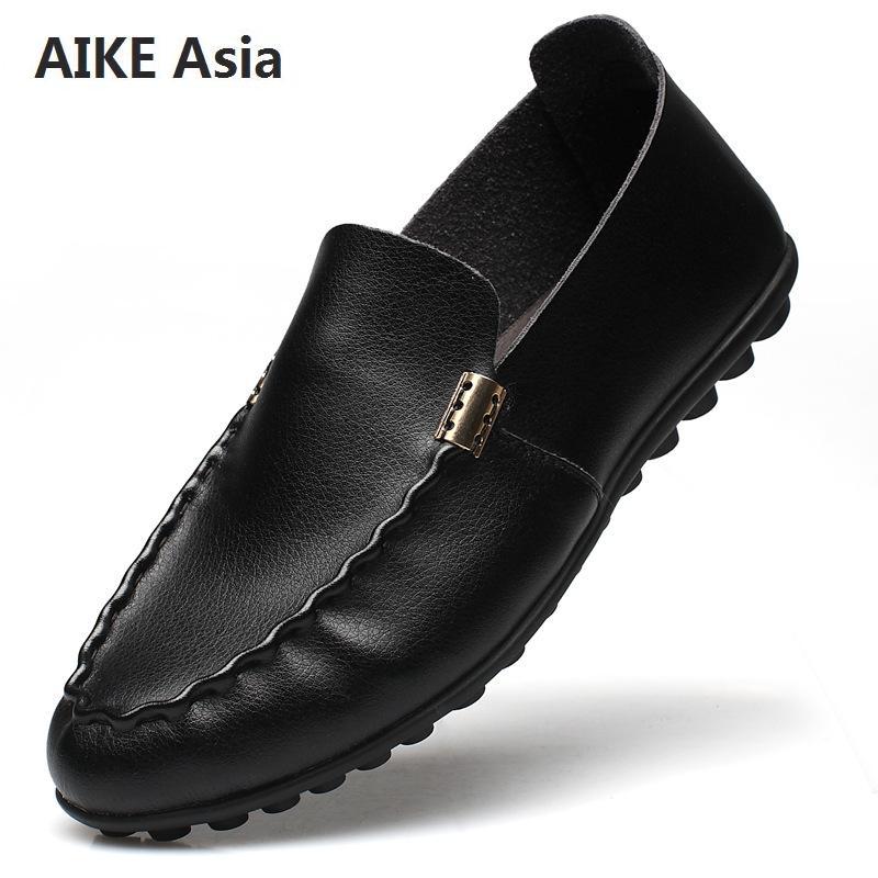 Más Para photo Negro Cuero Hombre 47 Conducción Cómodo Italianos  Respirables Zapatos 38 Mocasín Mocasines Genuino ... 7dee2f04f0a88