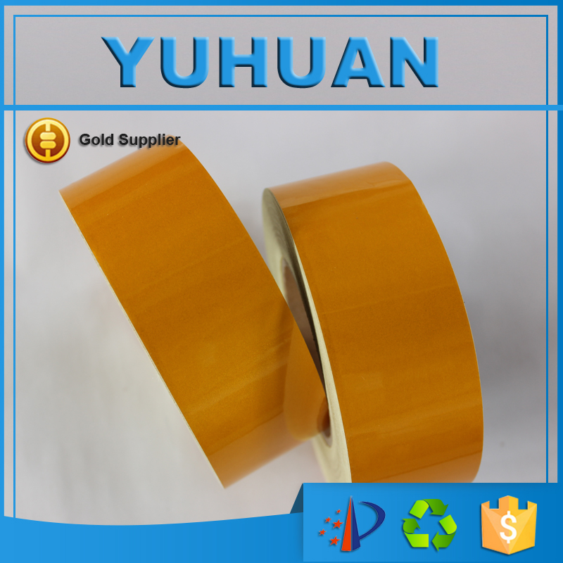 Free Shipping 5CM x 45.7M Good Quality Advertising Grade Reflective Adhesive Tape For Road Safe Material Safety Warning Tape