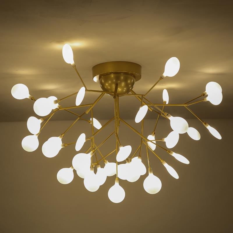 Modern Design Led Chandelier Lighting Living Room Gold Lamp Dinning Room Decor Home Light Fixture Metal Lustre G4 110-220VModern Design Led Chandelier Lighting Living Room Gold Lamp Dinning Room Decor Home Light Fixture Metal Lustre G4 110-220V