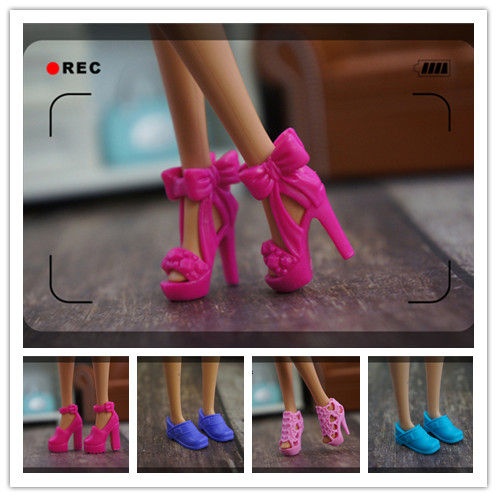 2019 New Cute Original Shoes For Barbie Doll 1/6 Fashion High Quality High-heeled Crystal Shoes Sneaker For Barbie